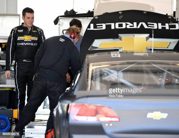Alex Bowman driver of the Team Chevrolet Chevrolet during testing for the Monster Energy NASCAR Cup Series at HomesteadMiami Speedway on October 26...