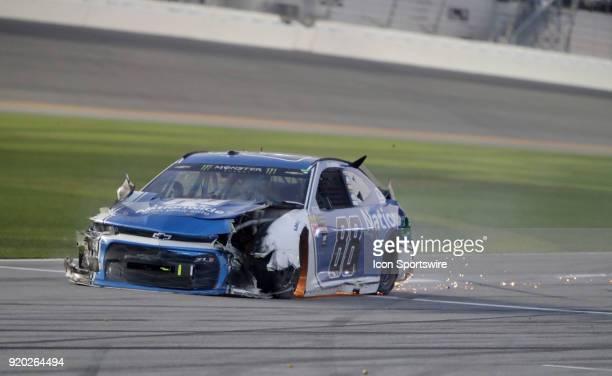 Alex Bowman Hendrick Motorsports Nationwide Insurance Chevrolet Camaro during the running of the 60th Daytona 500 on Sunday February 182018 at...