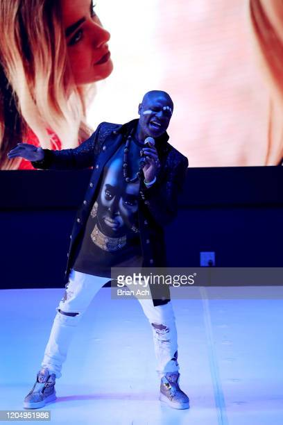 Alex Boyé performs onstage on behalf of the American Foundation for Suicide Prevention during NYFW Powered By hiTechMODA on February 08, 2020 in New...