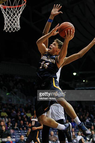 Alex Bran of the Chattanooga Mocs shoots the ball against the Butler Bulldogs at Hinkle Fieldhouse on November 18 2014 in Indianapolis Indiana Butler...