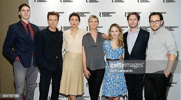 Alex Breaux Ewan McGregor Maggie Gyllenhaal Cynthia Nixon Madeline Weinstein Josh Hamilton and Director Sam Gold attend The Real Thing Cast Photocall...