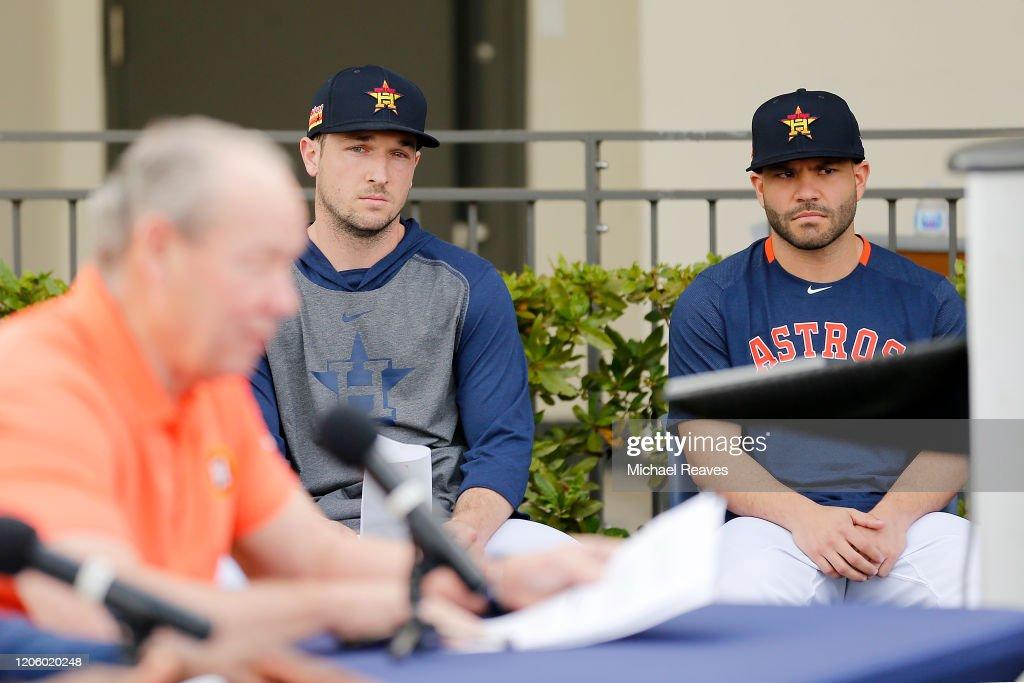 Houston Astros Media Availability : News Photo