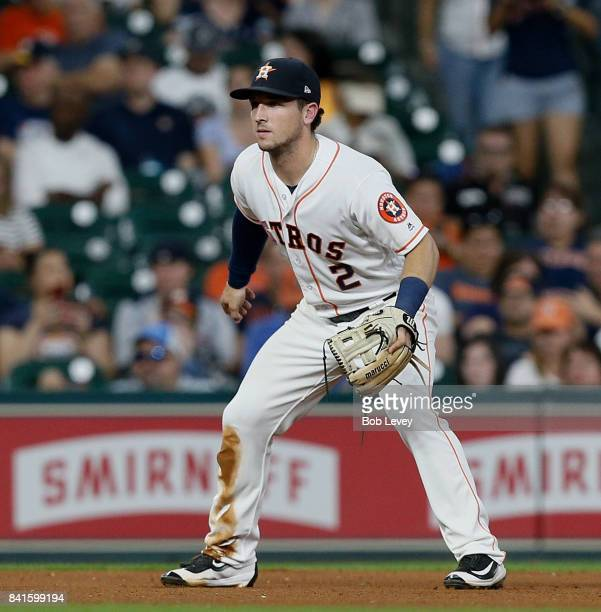 Alex Bregman of the Houston Astros against the Washington Nationals at Minute Maid Park on August 22 2017 in Houston Texas
