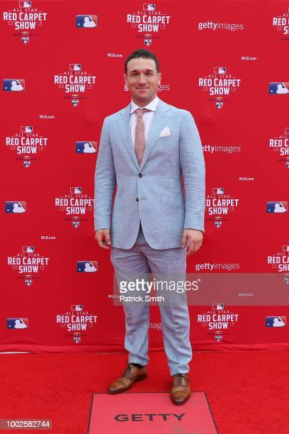 Alex Bregman of the Houston Astros and the American League attendsthe 89th MLB AllStar Game presented by MasterCard red carpet at Nationals Park on...