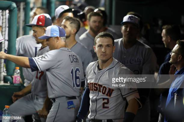 Alex Bregman of the Houston Astros and the American League during the 89th MLB AllStar Game presented by Mastercard at Nationals Park on July 17 2018...