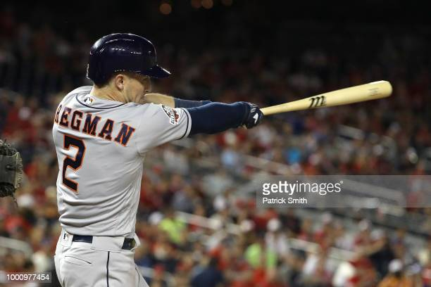 Alex Bregman of the Houston Astros and the American League hits a solo home run in the tenth inning against the National League during the 89th MLB...
