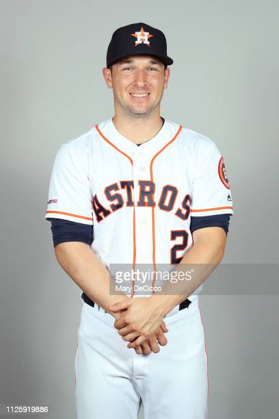 Alex Bregman of the Houston Astros poses during Photo Day on Tuesday February 19 2019 at the FITTEAM Ballpark of the Palm Beaches in West Palm Beach...