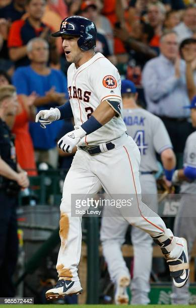 Alex Bregman of the Houston Astros rounds the bases on his walkoff tworun home run in the ninth inning to give the Houston Astros a 76 win over the...