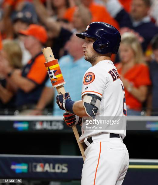 Alex Bregman of the Houston Astros waits on deck in the third inning against the Tampa Bay Rays during game five of the American League Divisional...