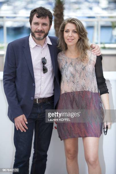 Alex Brendemuhl and Lucia Puenzo attend the photocall for 'Wacolda' during The 66th Annual Cannes Film Festival at Palais des Festivals on May 21...