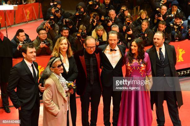 Alex Brendemuhl Bimbam Merstein Cecile de France Director Etienne Comar Reda Kateb Beata Payla and Producer Marc Missonnier pose on the red carpet...