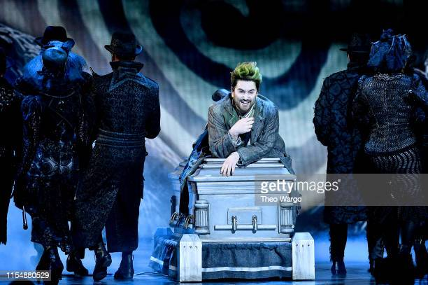 Alex Brightman and the cast of Beetlejuice perform onstage during the 2019 Tony Awards at Radio City Music Hall on June 9 2019 in New York City