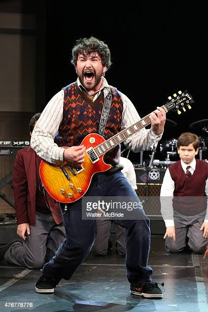 Alex Brightman during a press preview performance of 'School of Rock The Musical' at The Gramercy Theatre on June 11 2015 in New York City