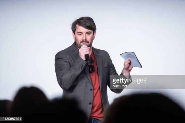 Alex Brightman speaks on stage at Four Roses Bourbon's Broadway Tastes presented by iHeartRadio Broadway hosted by Alex Brightman with special guest...