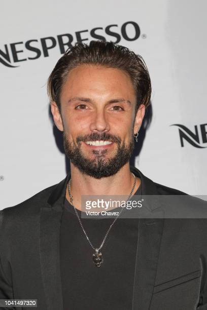 Alex Brizuela attends the Nespresso Vertuo launch on September 26 2018 at Piacere in Mexico City Mexico