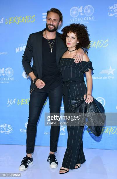Alex Brizuela poses for photos during the red carpet of the movie 'Ya Veremos' at Cinemex Antara Polanco on July 31 2018 in Mexico City Mexico