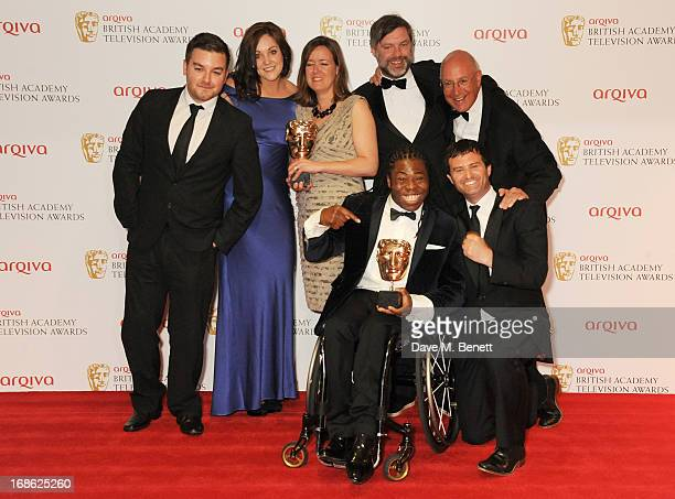 Alex Brooker Rachel Lathan Deborah Poulton Ade Adepitan Gary Franses and Giles Long winners of the Sport and Live Event award for 'The London 2012...