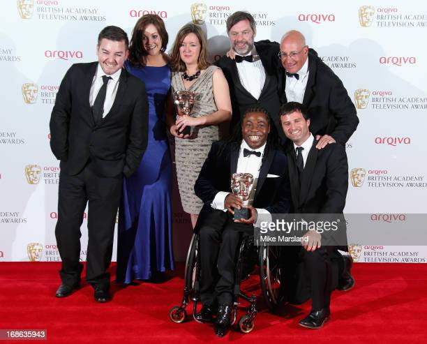 Alex Brooker Rachel Lathan Deborah Poulton Ade Adepitan Gary Franses and Giles Long winners of the Sport and Live Event award for The London 2012...