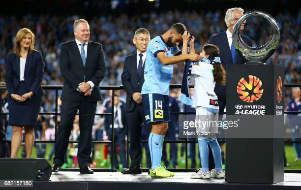 Alex Brosque of Sydney FC after the 2017 ALeague Grand Final match between Sydney FC and the Melbourne Victory at Allianz Stadium on May 7 2017 in...