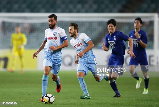 Alex Brosque of Sydney FC controls the ball during the AFC Asian Champions League match between Sydney FC and Suwon Bluewings at Allianz Stadium on...