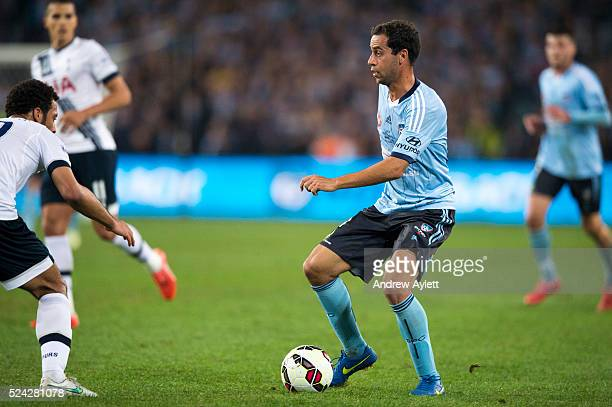 Alex Brosque of Sydney FC controls the ball during the friendly match between Sydney FC and the Tottenham Hotspur at ANZ stadium in Sydney NSW...