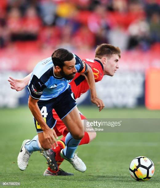 Alex Brosque of Sydney FC during the round 16 ALeague match between Adelaide United and Sydney FC at Coopers Stadium on January 14 2018 in Adelaide...