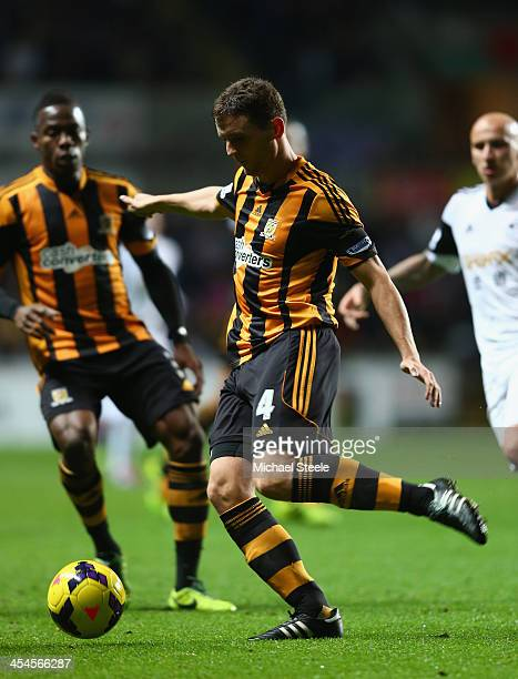 Alex Bruce of Hull City during the Barclays Premier League match between Swansea City and Hull City at the Liberty Stadium on December 9 2013 in...