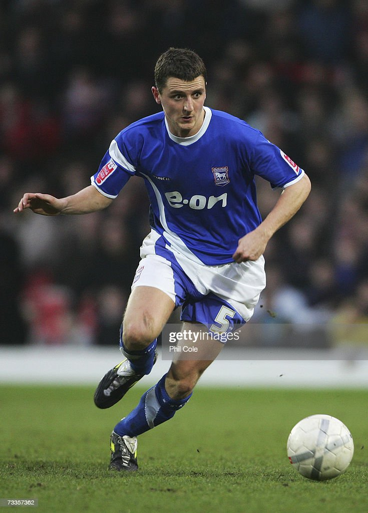 Alex Bruce of Ipswich Town in action during the FA Cup sponsored by E.ON 5th Round match between Watford and Ipswich Town at Vicarage Road on February 17, 2007 in Watford, England.