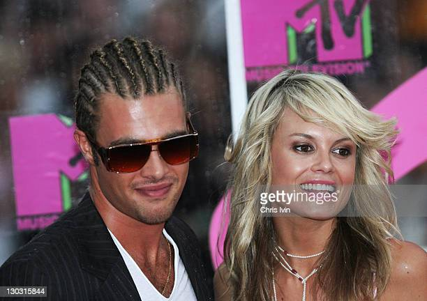 Alex Bruzst and Amy Erbacher during 2005 MTV Australia Video Music Awards Arrivals at Luna Park in Sydney New South Wales Australia