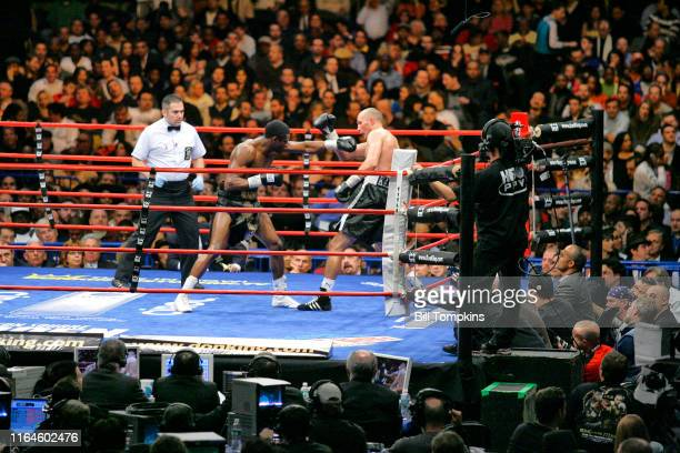 Alex Bunema defeats Roman Karmazin by TKO inthe 10th round during their Super Welterweight fight at Madison Square Garden on Jnauary 19 2008 in New...