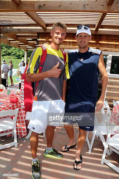 Alex Bury and Andreas Siljeström attend the 11th Annual Charles Evans PCF ProAm Tennis Tournament Finals at Shinnecock Tennis Club on August 30 in...