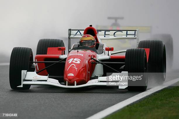 Alex Caffi in action during warm up for the GP Masters of Great Britain at Silverstone circuit on August 13 in Silverstone England