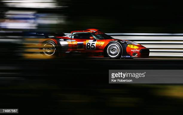 Alex Caffi of Italy and Team Spyker Squadron drives during the 75th running of the Le Mans 24 Hour race at the Circuit des 24 Heures du Mans June 16...