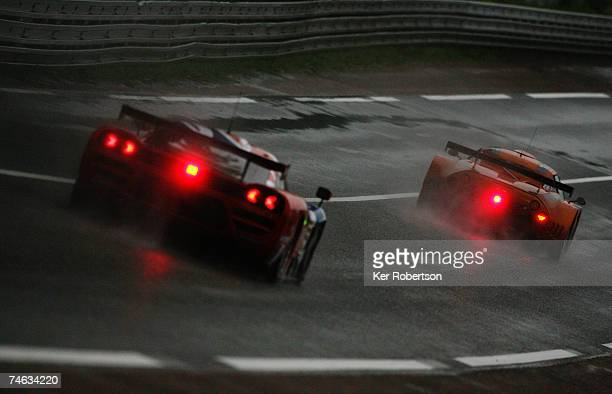 Alex Caffi of Italy and Team Spyker Squadron drives during the qualifying session for the Le Mans 24 Hour race at the Circuit des 24 Heures du Mans...