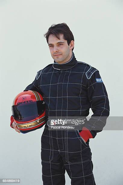 Alex Caffi of Italy driver of the Andrea Moda Formula Coloni C4B Judd V10 poses for a portrait during practice for the Yellow Pages South African...