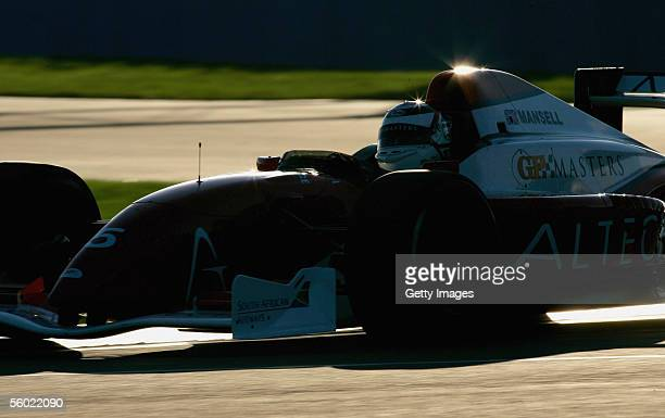 Alex Caffi of Italy in action during testing for the Grand Prix Masters Series at Silverstone Circuit on October 27 2005 in Silverstone England