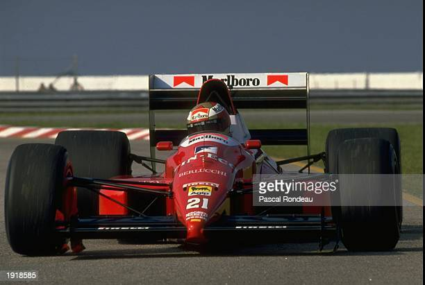 Alex Caffi of Italy in action in his Dallara Cosworth before the Brazilian Grand Prix at the Rio circuit in Brazil Caffi did not qualify Mandatory...