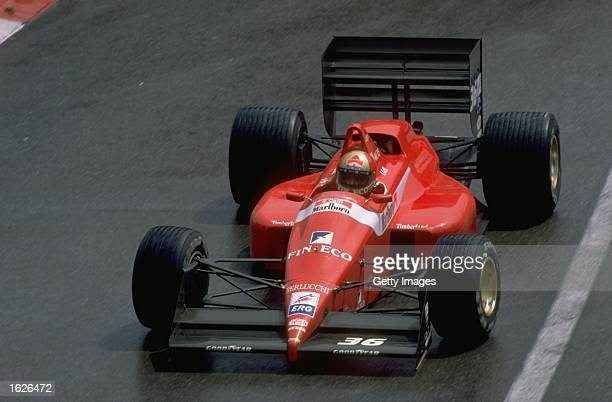 Alex Caffi of Italy in action in his Dallara Cosworth during the Monaco Grand Prix at the Monte Carlo circuit in Monaco Caffi retired from the race...