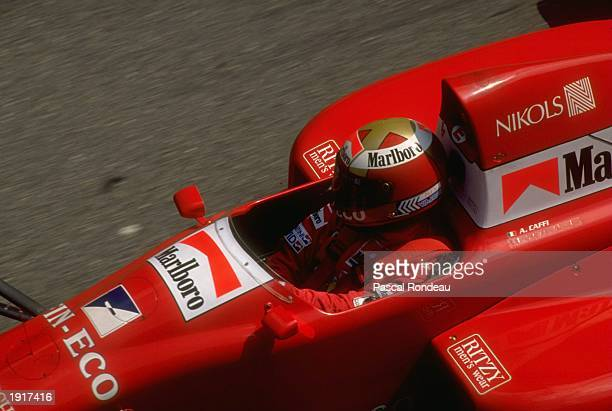 Alex Caffi of Italy in action in his Dallara Cosworth during the Monaco Grand Prix at the Monte Carlo circuit in Monaco Caffi finished in fourth...