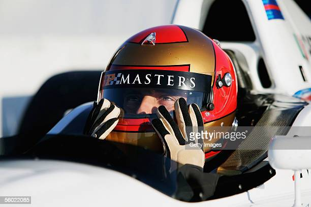 Alex Caffi of Italy prepares to test for the Grand Prix Masters Series at Silverstone Circuit on October 27 2005 in Silverstone England