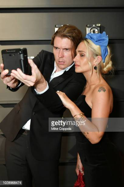 Alex Cameron and Jemima Kirke attend as Harper's BAZAAR Celebrates 'ICONS By Carine Roitfeld' at the Plaza Hotel on September 7 2018 in New York City
