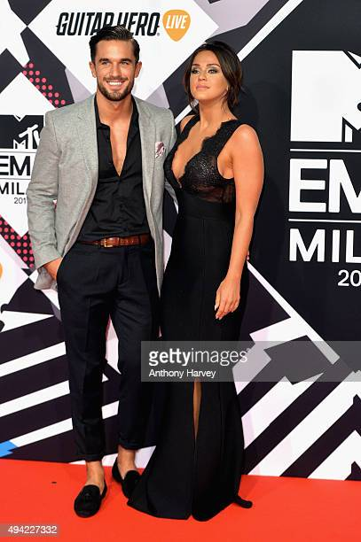Alex Cannon and Vicky Pattison attend the MTV EMA's 2015 at the Mediolanum Forum on October 25 2015 in Milan Italy