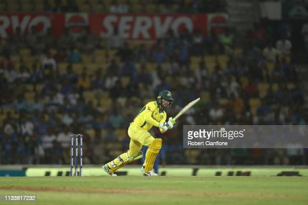 Alex Carey of Australia bats during game two of the One Day International series between India and Australia at Vidarbha Cricket Association Ground...