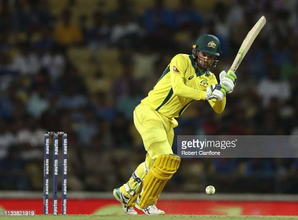 Alex Carey of Australia during bats game two of the One Day International series between India and Australia at Vidarbha Cricket Association Ground...