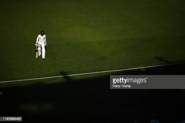 Alex Carey of Brad Haddin XII walks off after being dismissed during day two of the Australian Cricket Team Ashes Tour match between Brad Haddin XII...