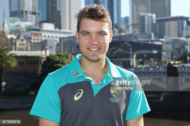 Alex Carey poses for a portrait during a media opportunity on February 13 2018 in Melbourne Australia