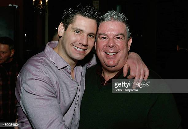 Alex Carr and Elvis Duran attend Elvis Duran Z100 Morning Show Holiday Party at Anejo Tribeca on December 6 2014 in New York City