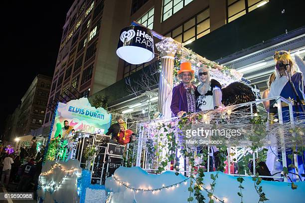 Alex Carr and Grand Marshal Elvis Duran attend the 43rd Annual Village Halloween Parade on October 31 2016 in New York City