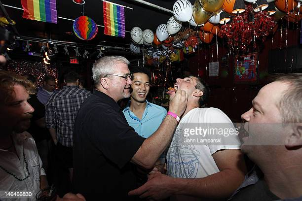 Alex Carr and guests attend Alex Carr's birthday celebration at The Stonewall Inn on June 16 2012 in New York City