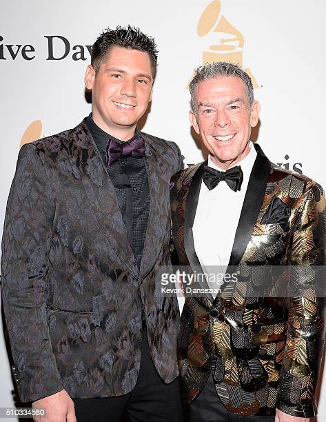 Alex Carr and radio personality Elvis Duran attend the 2016 PreGRAMMY Gala and Salute to Industry Icons honoring Irving Azoff at The Beverly Hilton...